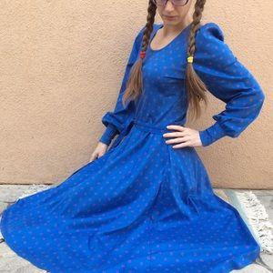 Vintage Dresses - Vintage Anne Get UR Gun 80's Cotton Prairie Dress